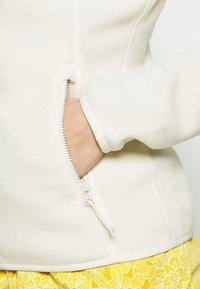 The North Face - WOMENS GLACIER FULL ZIP - Fleecejakker - vintage white - 5
