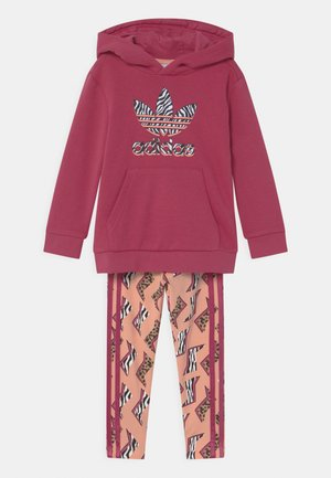 ANIMAL PRINTED SET - Mikina - wild pink/multicolor/glow pink