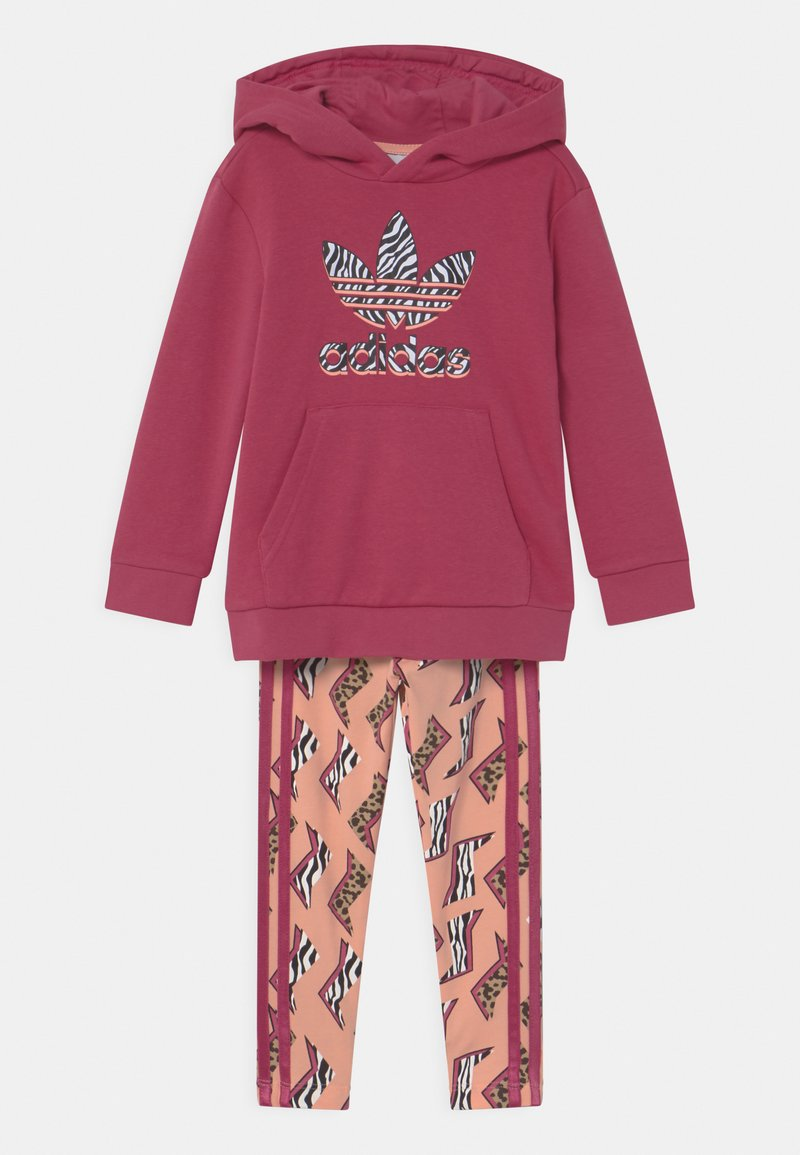 adidas Originals - ANIMAL PRINTED SET - Sweater - wild pink/multicolor/glow pink