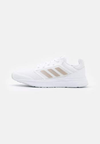 GALAXY 5 - Neutral running shoes - footwear white/champagne metallic/halo blue