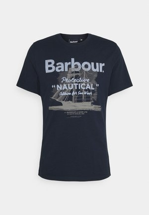 VESSEL TEE - T-shirt con stampa - navy
