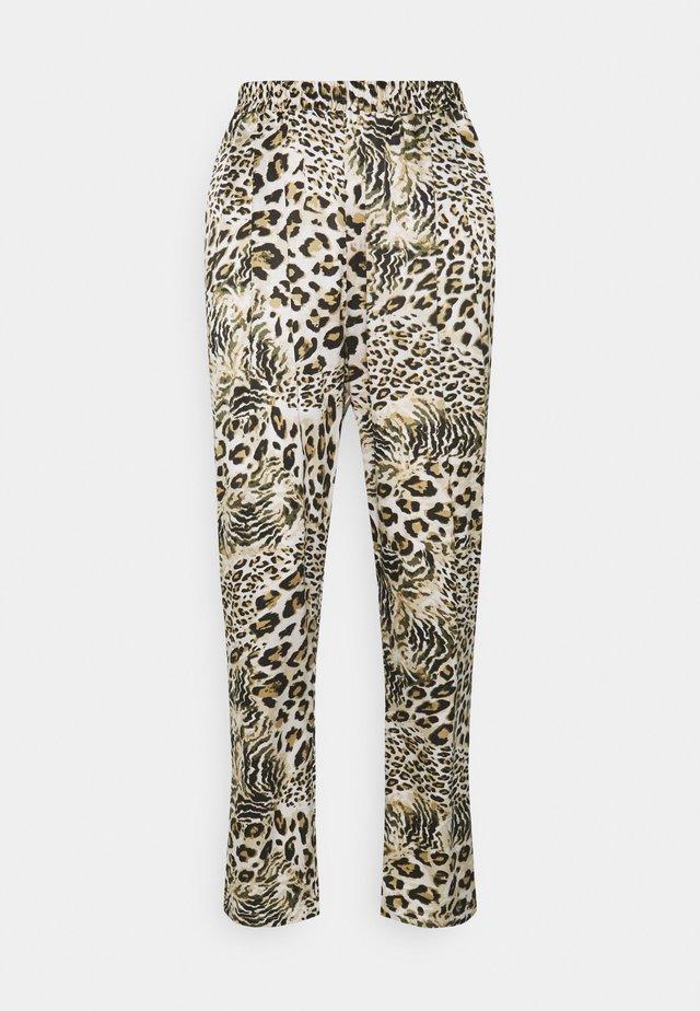 Kalhoty - beige/brown/black