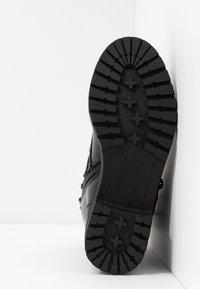 Bianco Wide Fit - WIDE FIT BIACLAIRE CRYSTAL BOOT - Snørestøvletter - black - 6