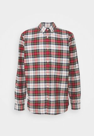 SLIM OXFORD - Shirt - stewart plaid red