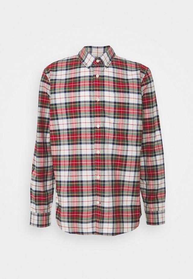 SLIM OXFORD - Shirt - stewart plaid red