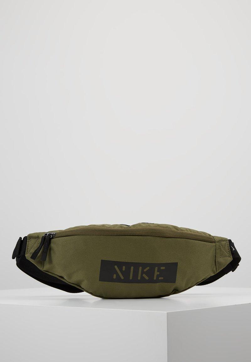 Nike Sportswear - HERITAGE HIP PACK - Bum bag - medium olive/white