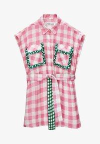 Uterqüe - MIT VICHYKAROS  - Shirt dress - pink - 5