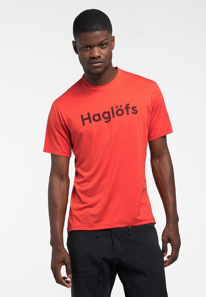 Haglöfs - RIDGE TEE - Print T-shirt - habanero