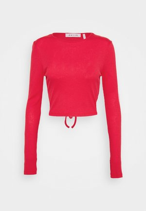CUTOUT TIE BACK - Topper langermet - red