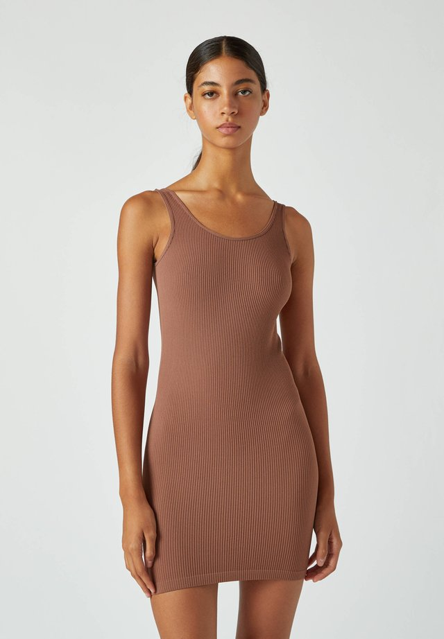 Etuikleid - dark brown