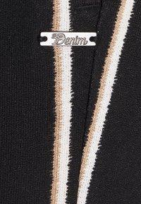 TOM TAILOR DENIM - PAPERBAG CULOTTE WITH POCKETS - Trousers - black/beige - 2