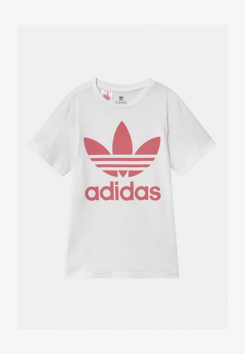 adidas Originals - TREFOIL - Print T-shirt - white/hazy rose