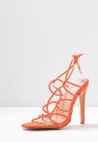 Public Desire - SAVY - Sandály na vysokém podpatku - orange - 4