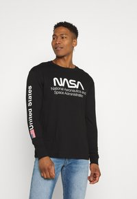 Cotton On - TBAR COLLABORATION TEE - Long sleeved top - black/nasa - space administration - 0