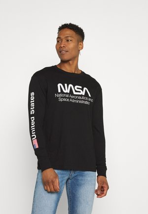 TBAR COLLABORATION TEE - Maglietta a manica lunga - black/nasa - space administration