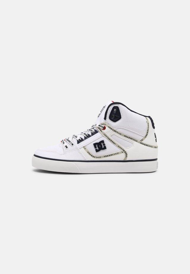 PURE UNISEX - Skateboardové boty - white/navy/red