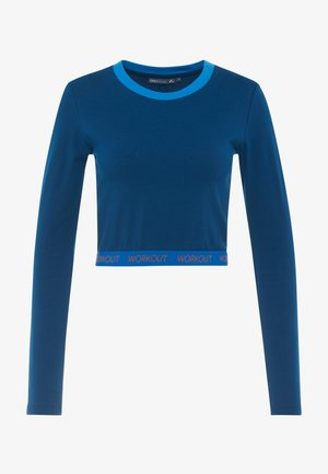 ONPTANGERINE CROPPED  - Camiseta de manga larga - gibraltar sea/french blue/celo