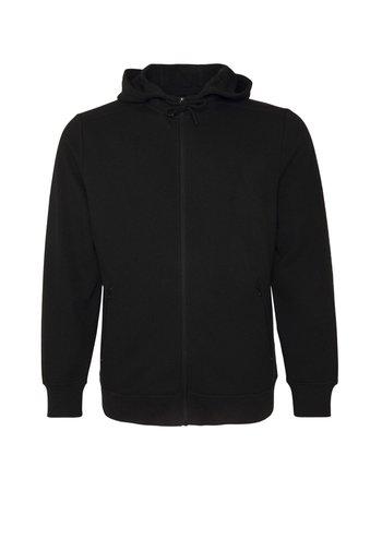 GRAPHIC PRINT ZIP THROUGH HOODIE - Zip-up sweatshirt - black