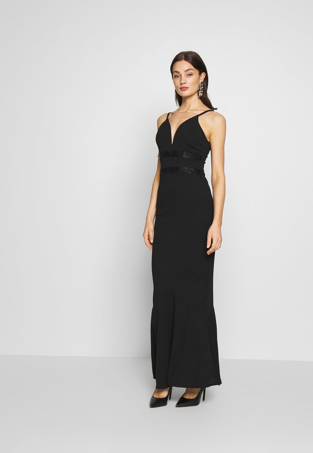 PLUNGE FITTED - Robe de cocktail - black