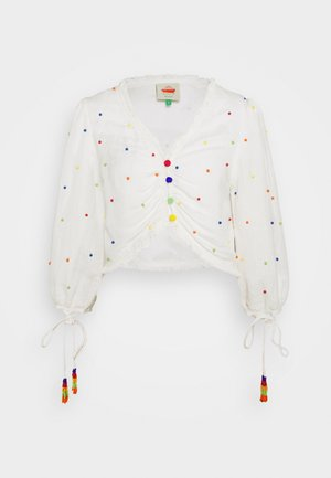 BEADED BLOUSE - Blusa - off-white