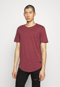 Only & Sons - MATT 5 PACK - T-shirt basic - dark grey melange/cabernet mel - 5