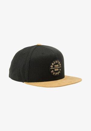 Cap - tan black