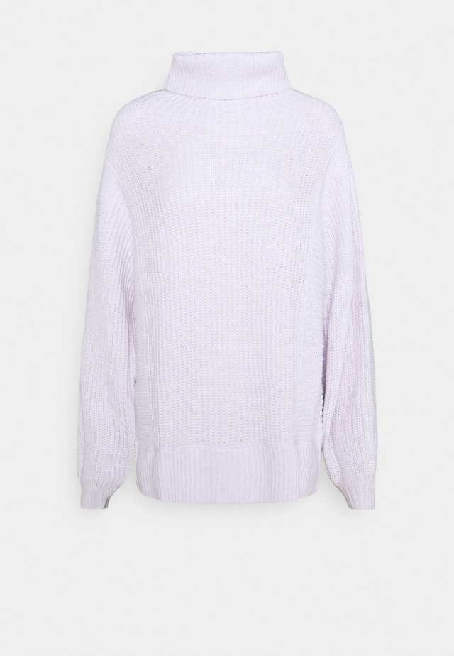 OVERSIZED TURTLENECK - Sweter - lively lilac