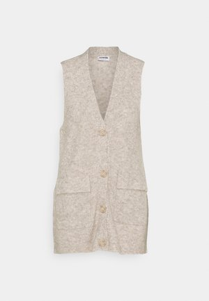NMNETE LONG VEST - Chaleco - chateau gray