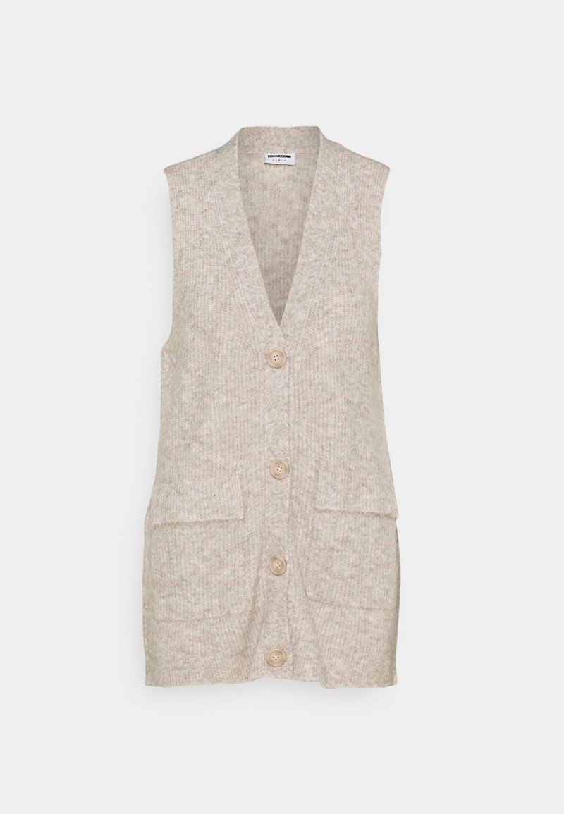 Noisy May - NMNETE LONG VEST - Waistcoat - chateau gray