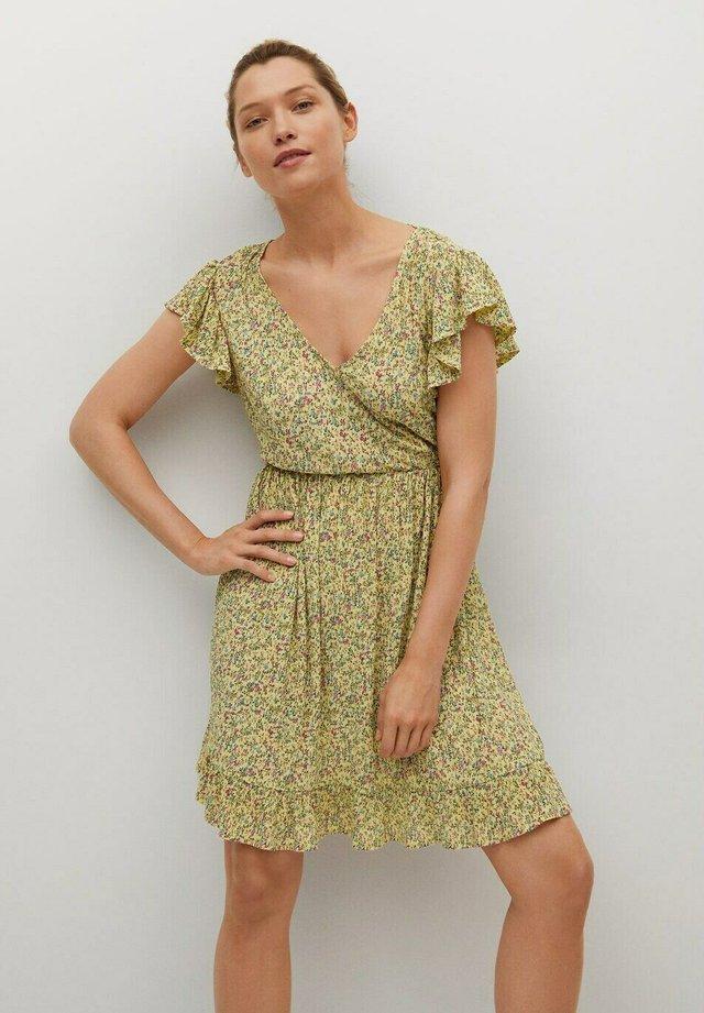 GRACIOSA - Korte jurk - jaune pastel