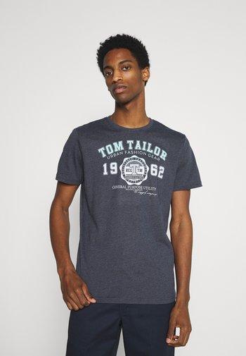 LOGO TEE - T-shirt z nadrukiem - sky captain blue/white melange