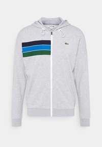 Lacoste Sport - RAINBOW JACKET - Zip-up hoodie - silver chine/navy blue/utramarine/green/white - 3