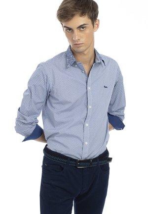 PATCHWORK TESSUTI - Shirt - lapislazzulo