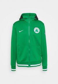 NBA BOSTON CELTICS SHOWTIME HOODIE - Zip-up sweatshirt - clover/white