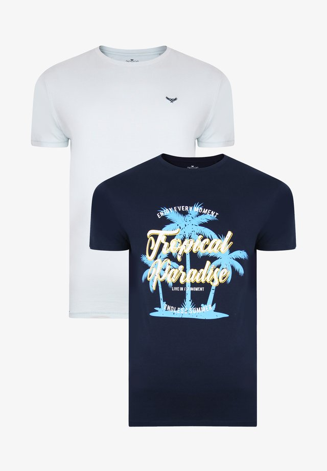2ER PACK - T-shirt con stampa - mehrfarbig