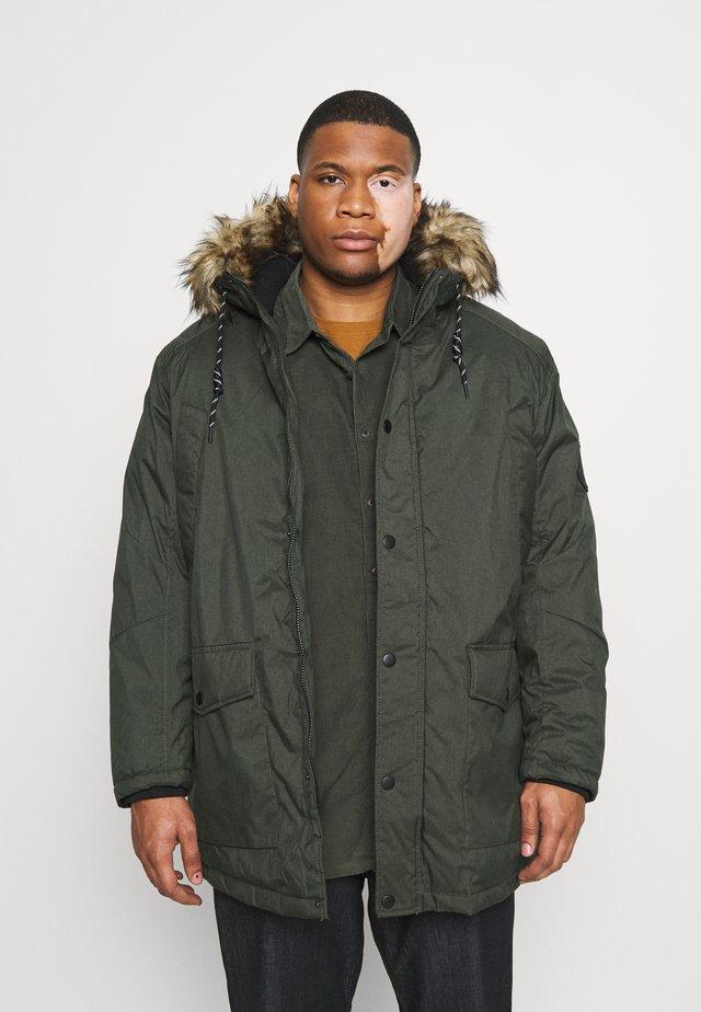 JJSKY JACKET - Winter coat - dark green melange