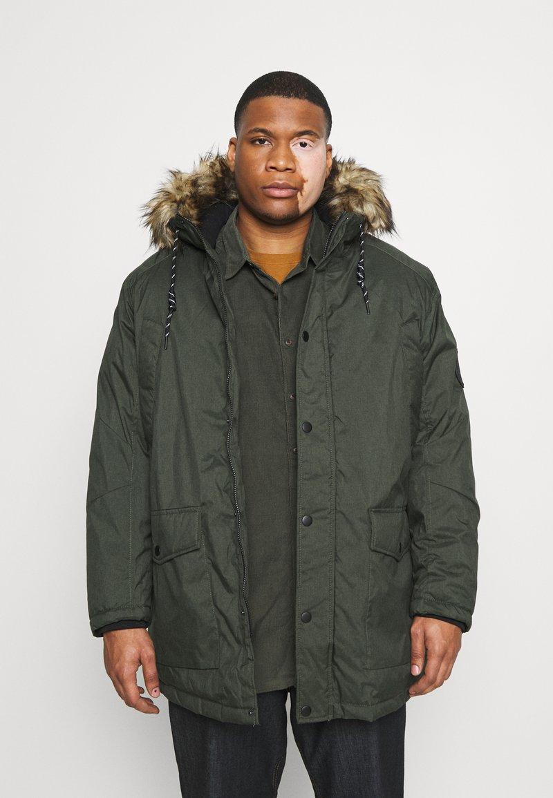 Jack & Jones - JJSKY JACKET - Winter coat - dark green melange