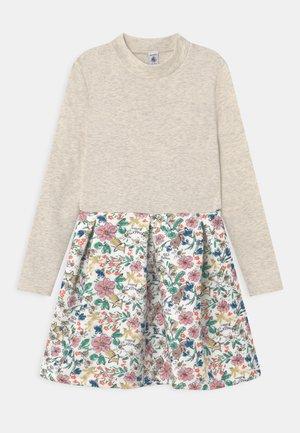 TIVETTE - Jersey dress - marshmallow/multi-coloured