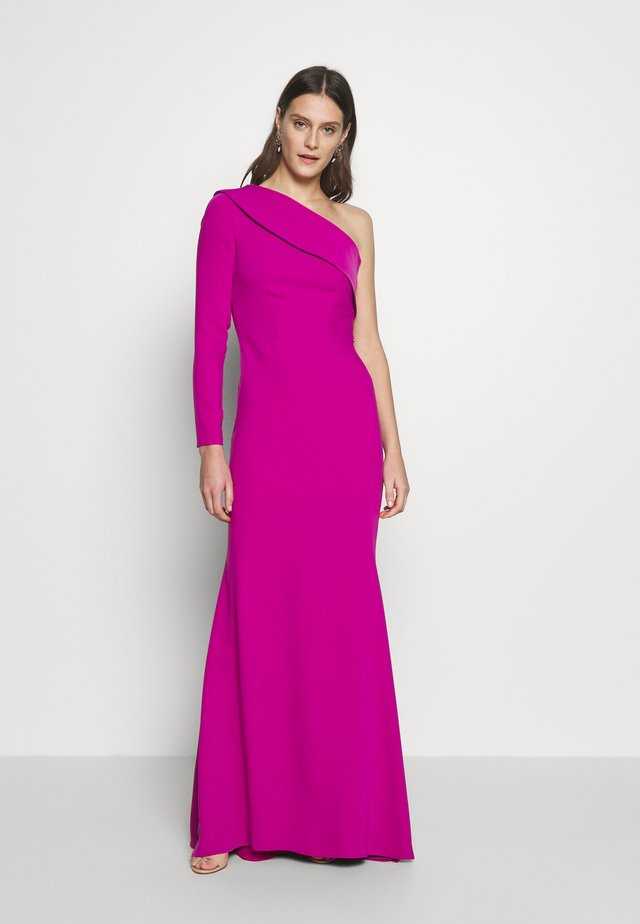 LONG SLEEVE ASYMMETRIC DREES - Robe de cocktail - pink