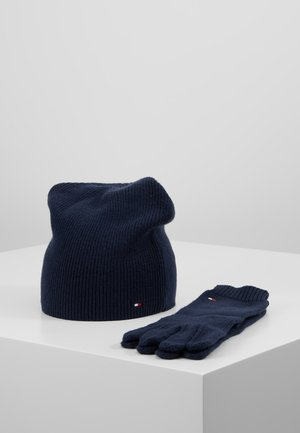 FLAG BEANIE & GLOVES SET - Gloves - blue