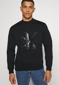 Calvin Klein Jeans - SHINY MONOGRAM CREW NECK UNISEX - Sweatshirt - black - 3