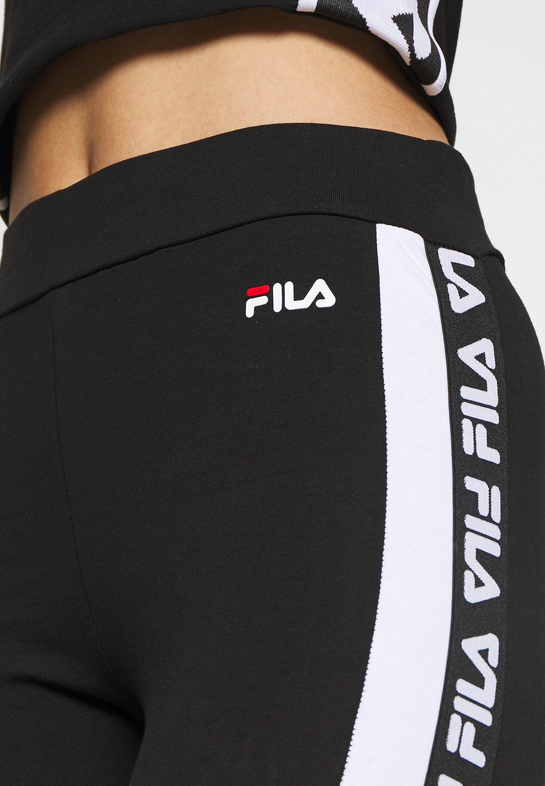 Fila TASYA - Legging - black/bright white - Pantalons & Leggings Femme qXwqj