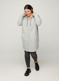 Zizzi - Zip-up hoodie - light grey - 1