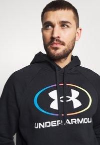 Under Armour - RIVAL LOCKERTAG - Zip-up hoodie - black - 3