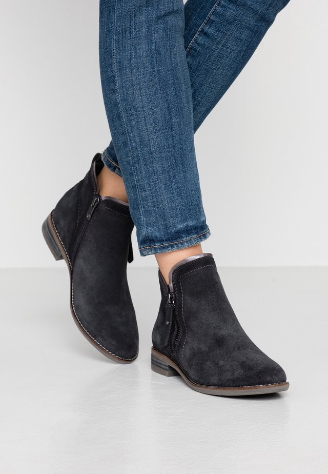 WOMS BOOTS - Botines bajos - navy