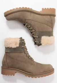 Pier One - Šněrovací kotníkové boty - khaki - 3