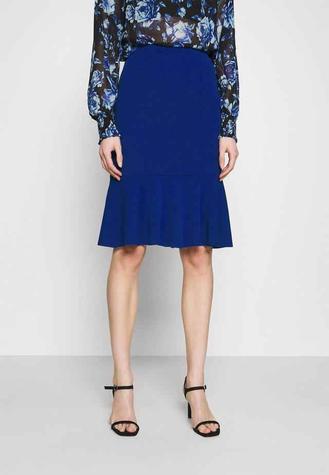 MORGAN FRILL - Pencil skirt - electric blue