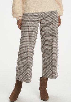 ILISANPW  - Spodnie materiałowe - mini check, brown