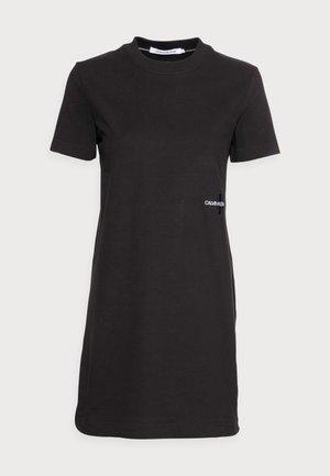 OFFPLACED MONOGRAM DRESS - Vestito di maglina - black