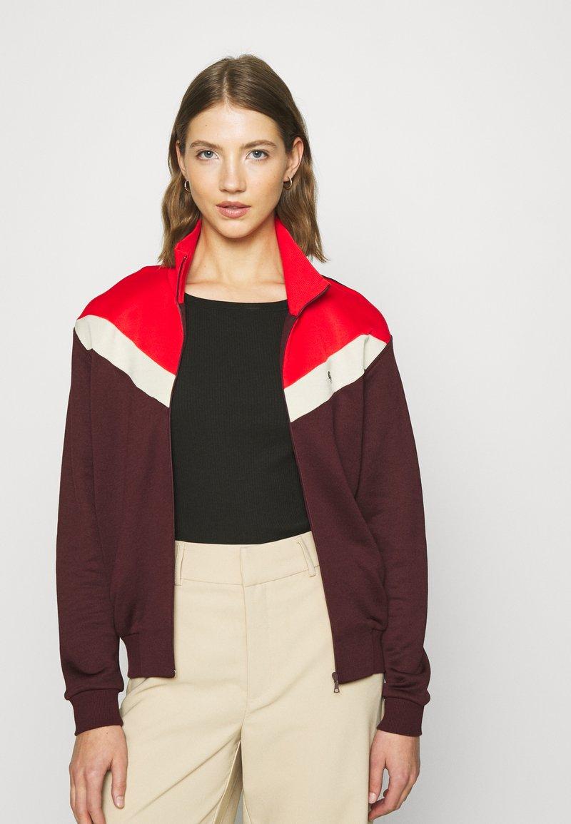 Lacoste - Zip-up sweatshirt - pruneau/marten corrida